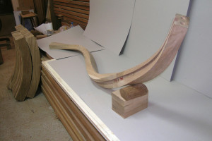 piece of wooden handrail