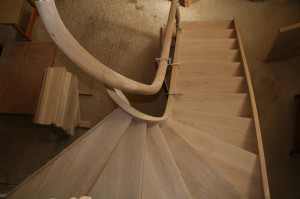 helicoidal woodstair and handrail