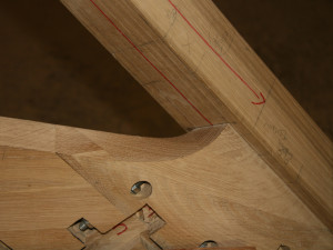 detail of helicoidal string of woodstair